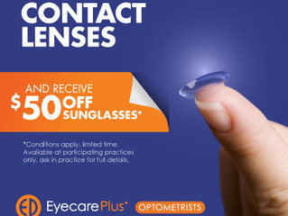Special Offer: $50 off sunglasses when you purchase contact lenses