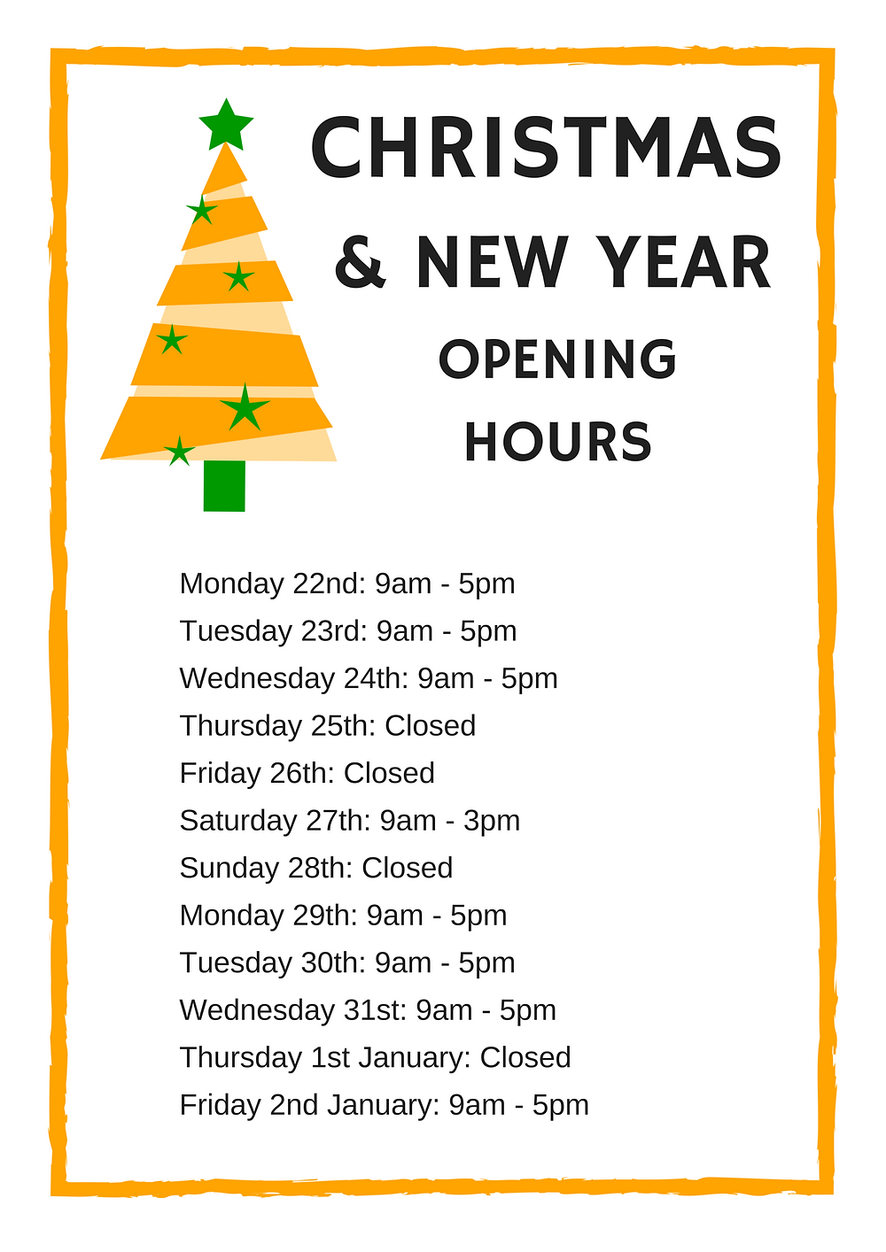2014 - ECP Christmas Opening Hours.png