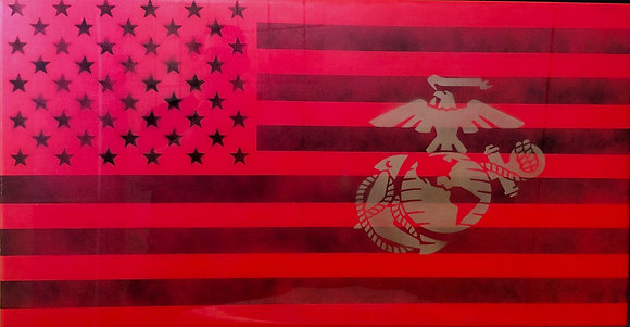 Marine Corp Resin Flag 25X48
