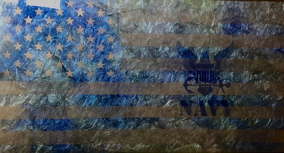 Navy Resin Flag 19X36