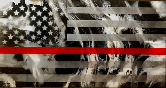 Fire Resin Flag 19X36