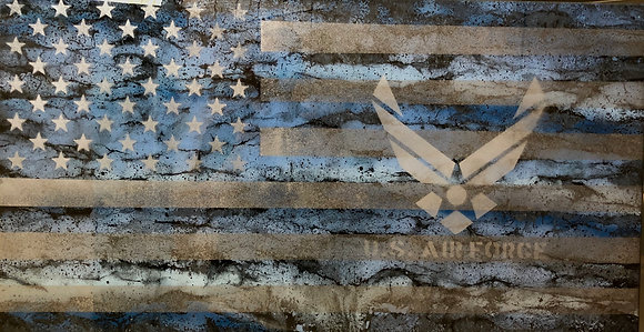 Air Force Resin Flag 25X48