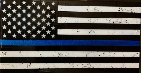 Police Resin Flag 32X60