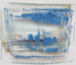 Sans titre 2009 © Kacem Noua. Acrylique sur contreplaqué marine, 125cm x 126cm Exposition Artiste galerie d'art contemporain Lyon Croix-Rousse Regard Sud