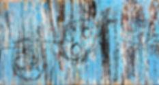 Crowd 2. 2010. Papier marouflé sur châssis entoilé. 305x101cm ©Lahcen Khedim Exposition Artiste galerie d'art contemporain Lyon Croix-Rousse Regard Sud