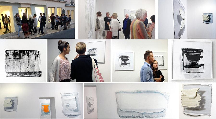 Vernissage Kacem Noua Exposition Artiste galerie d'art contemporain Lyon Croix-Rousse Regard Sud