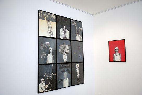 Le rêve bleu. 2006. Technique mixte, 49x64cm © Khaled Takreti Exposition Artiste galerie d'art contemporain Lyon Croix-Rousse Regard Sud