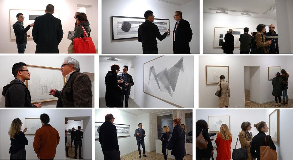 Vernissage Exposition Artiste galerie d'art contemporain Lyon Croix-Rousse Regard Sud Haythem Zakaria