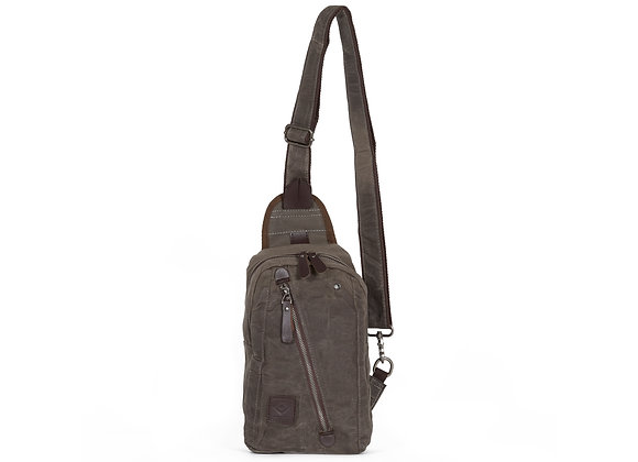 WAXED CANVAS SLING BAG
