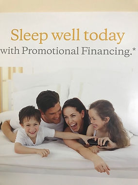 Promotional financing. We provide financial tool tailored to individual needs.Stop in and start sleeping wel today.