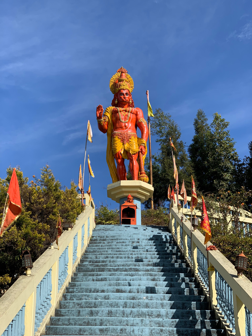 Kalimpong Statue in the Indian himilayas