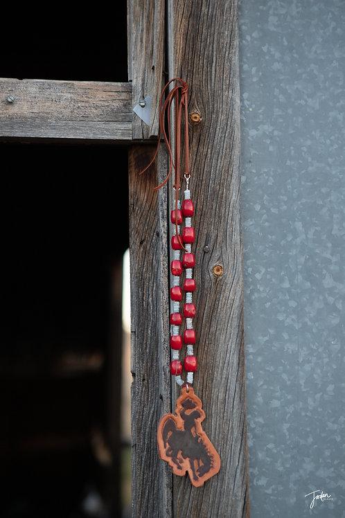 Coral & Aquamarine Necklace