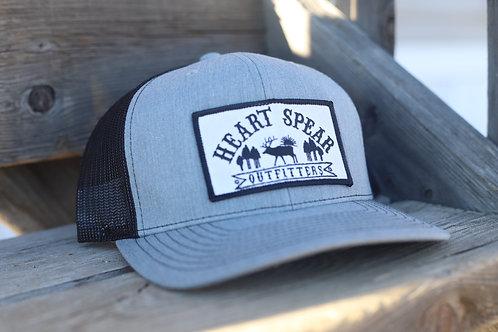 Gray & Black Patch Hat