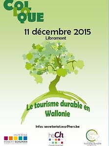 Colloque Tourisme durable ce 11 décembre