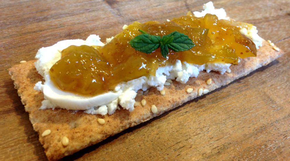 Goat Cheese & Cognac fig jam .... glorious