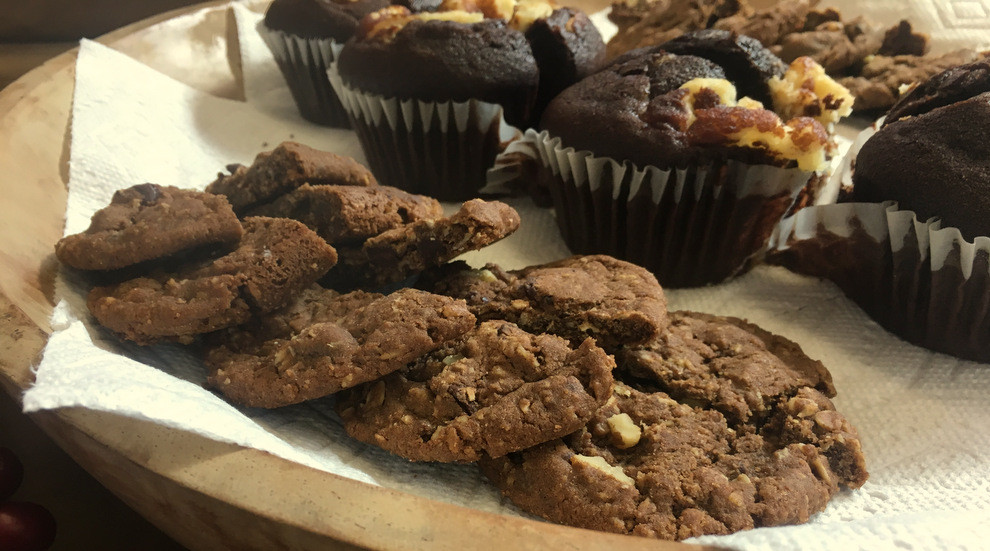 baked goods made with coffee flour