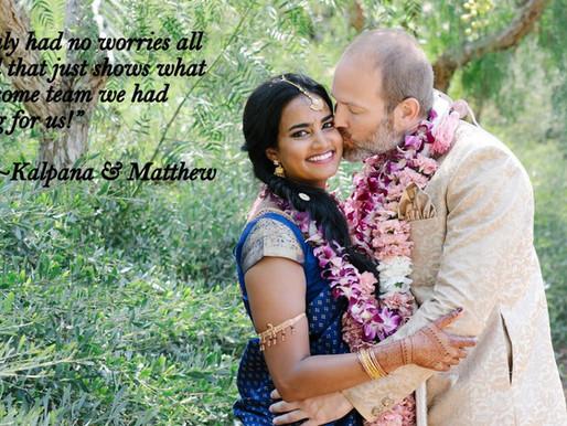 Kalpana & Matthew's Thank You Thursday!
