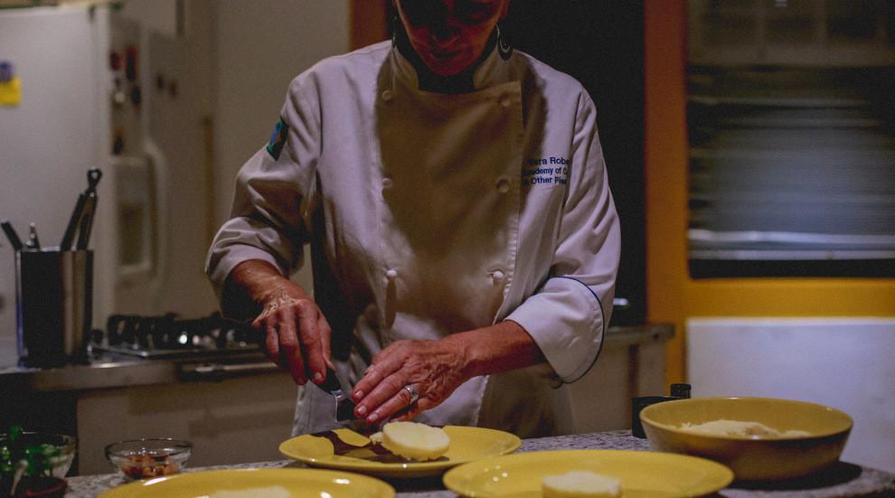 Acaçá (rice flour polenta made with coconut milk) by Master Chef Yara