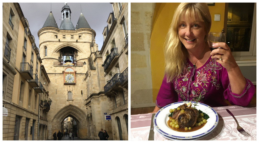 Église Catholique Saint-Eloi in the heart of town & one of Chef Olivia's lucky students, moi