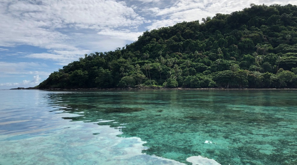 see that ocean floor? the visibility is unreal. And the jungle islands of Matangi are so full of life.