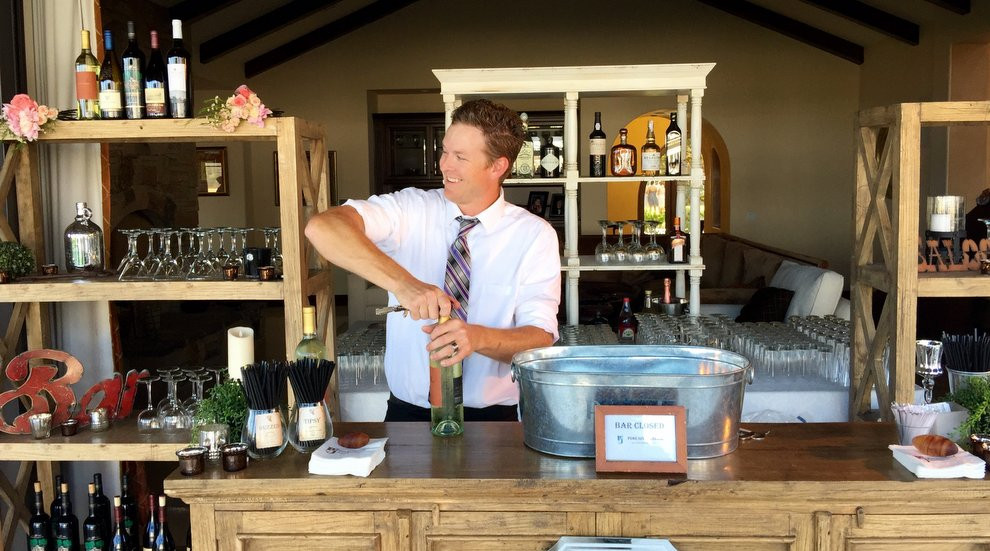 Bartending at a Pure Joy event!