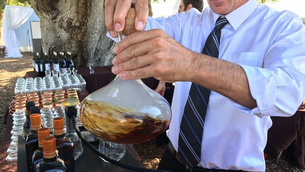Swirling the Smoked Cocktail