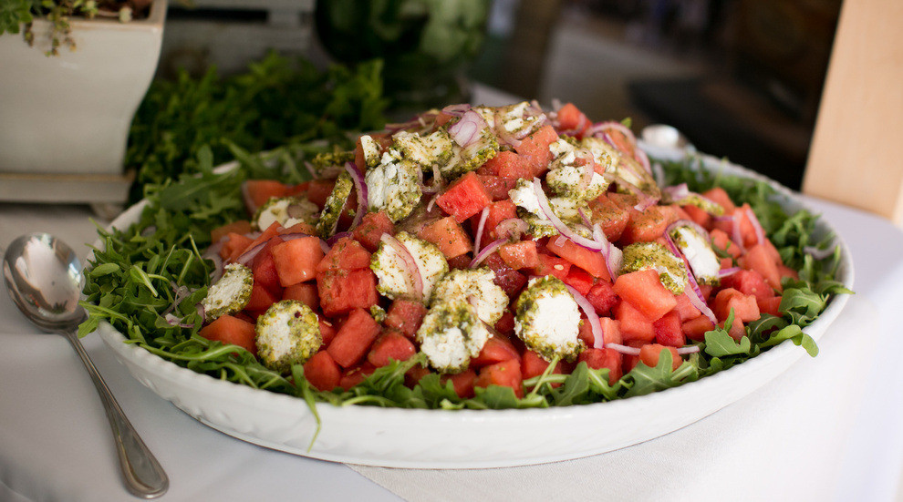 family style watermelon salad