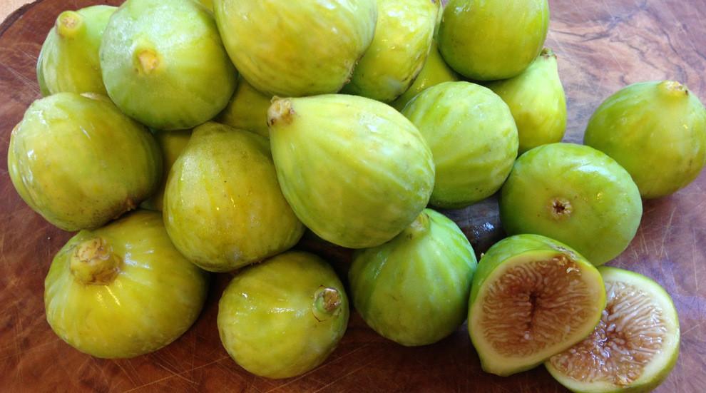 kadota figs from Chris at Santa Ynez Gardens who sells at SB Farmers Market