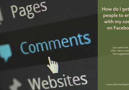 How do I get more people to engage with my content on Facebook? My salon social media is so quiet...