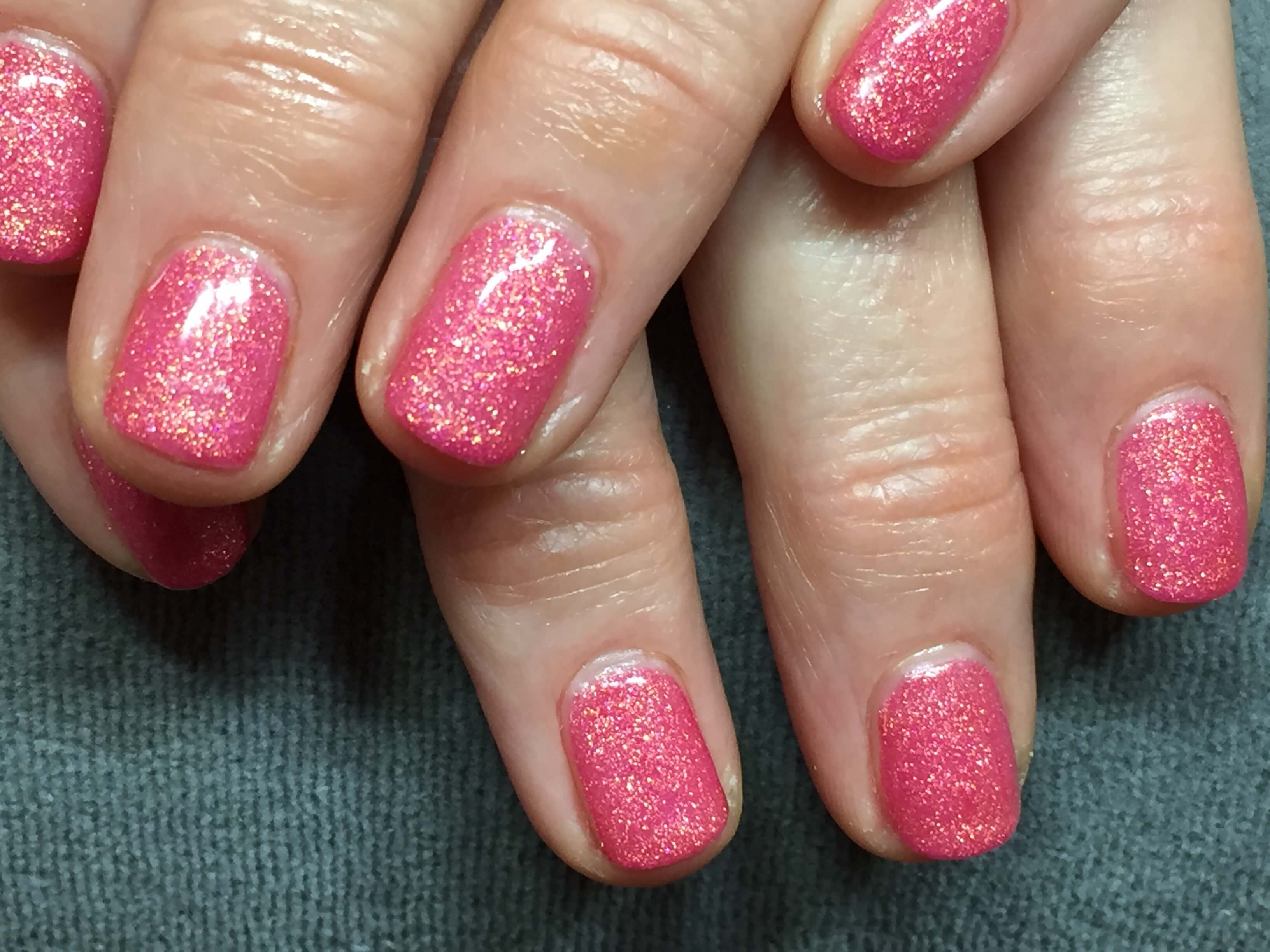 Pink Bio Sculpture Gel Nails