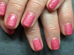 Pink Bio Sculpture Gel Nails