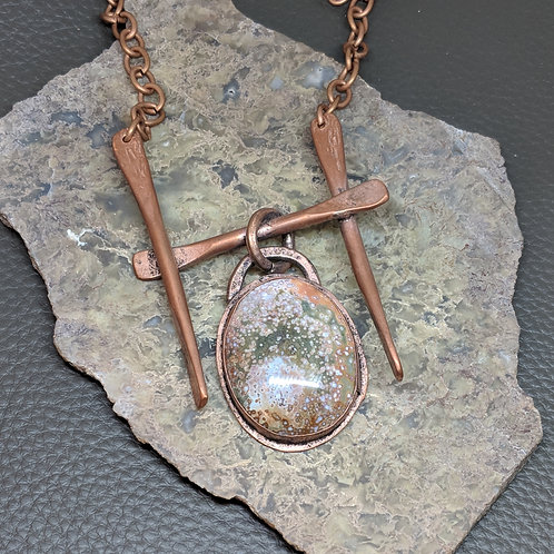 Ocean Jasper Copper Necklace