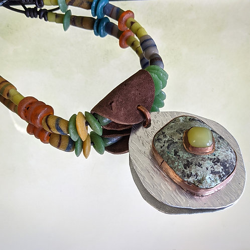 Bright Stone on Stone Necklace