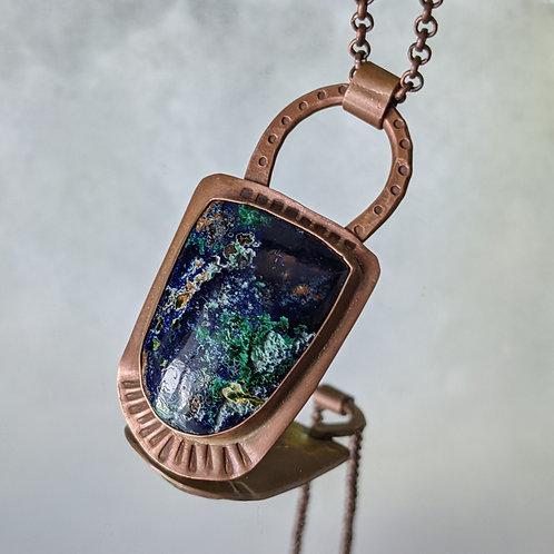 Azurite Malachite Copper Necklace