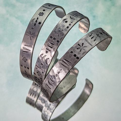 Graffiti Cuff Bracelet