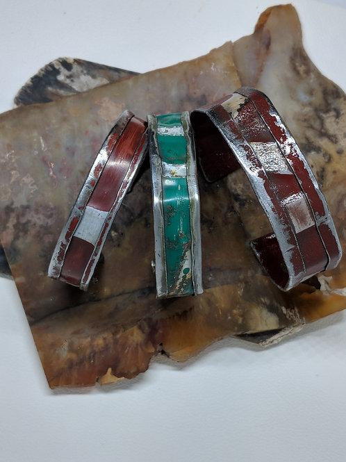 Vintage License Plate Bracelets