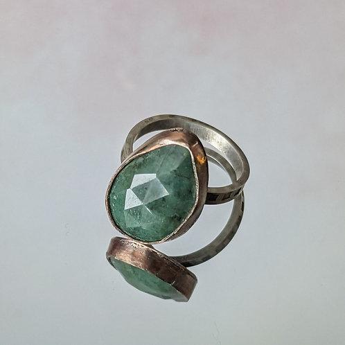 Emerald Teardrop Ring
