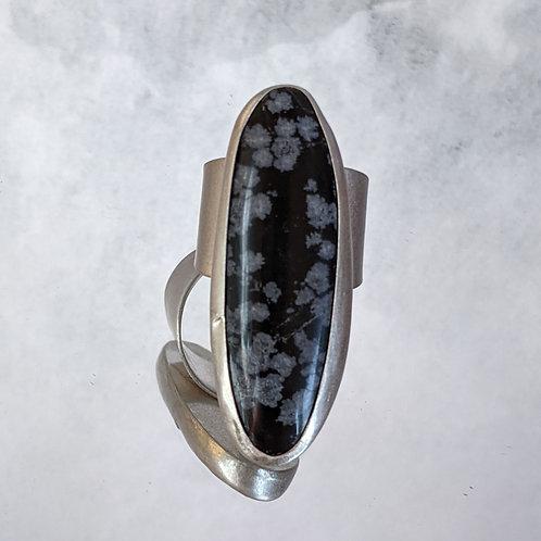 Snowflake Obsidian in Sterling