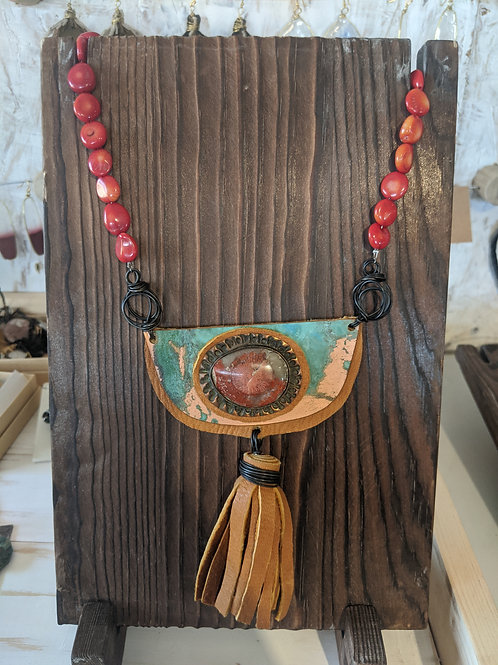 Horn Coral Statement Necklace