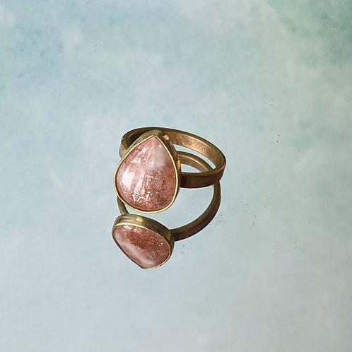 Teardrop Sunstone Ring