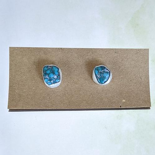 Blue Black Turquoise Chunky Studs