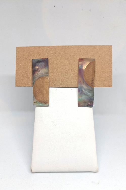 Acrylic and Wood Rectangular Studs