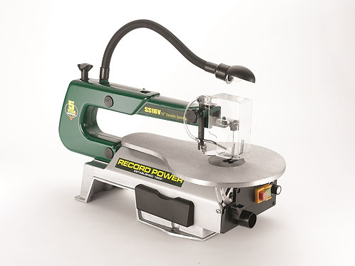 "RECORD POWER 16"" Variable Speed Scrollsaw"