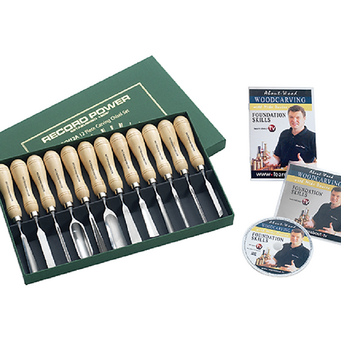RECORD POWER Carving Tool Set incl DVD