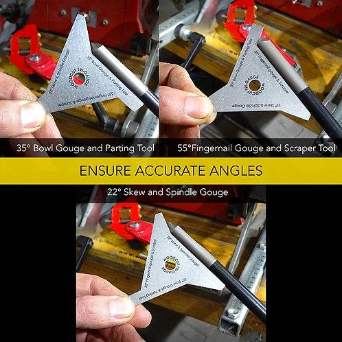 Woodcut Tri-Gauge Woodworkers Angle Gauge