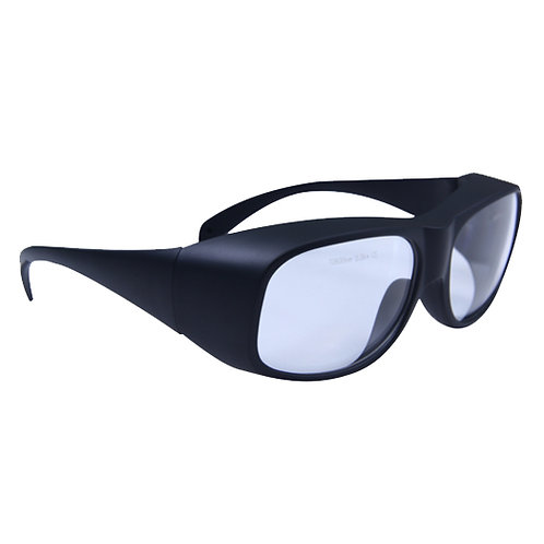 Clear Laser Safety Glasses with Black Frame