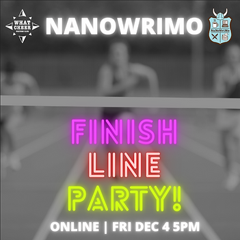 NaNoWriMo Finish Line Party