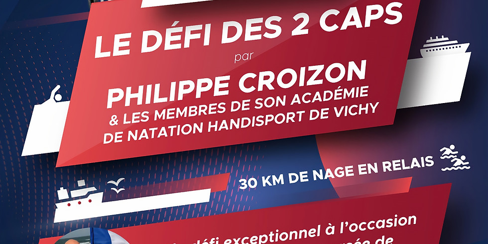 Défi des 2 Caps par Philippe Croizon