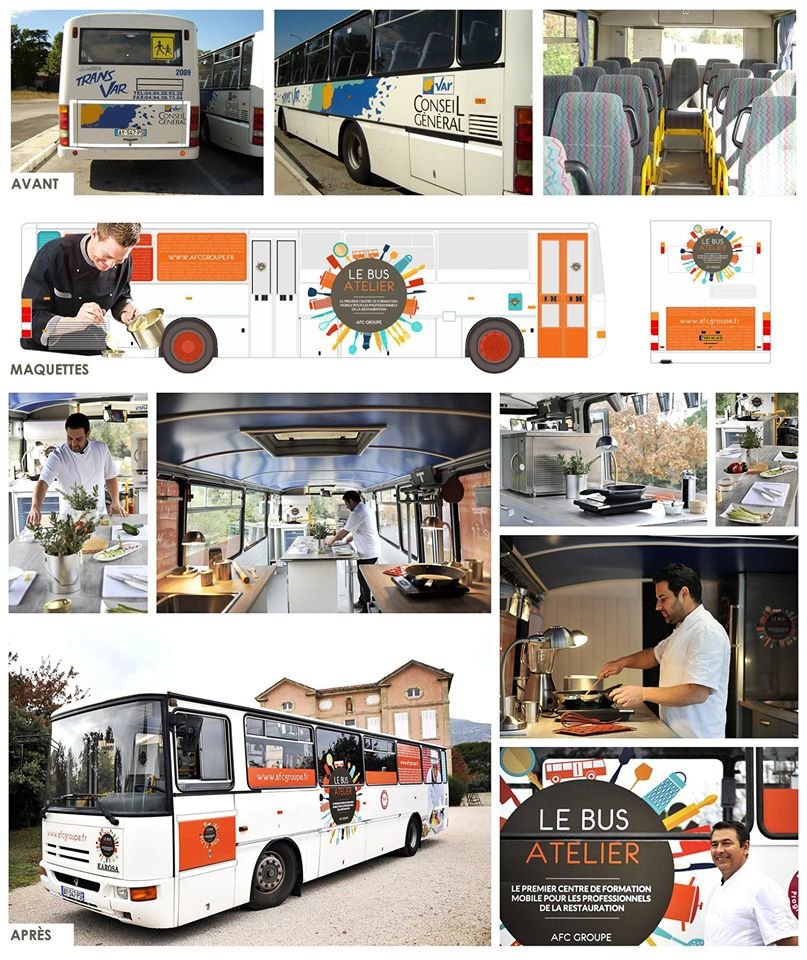 Design du Bus Atelier AFC Groupe