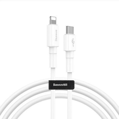 Baseus Mini Cable Type-C to iP,1m,18W,white